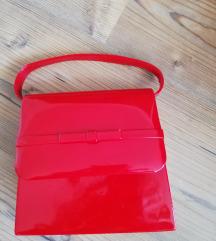Lakkozott piros retikül Diva Collection