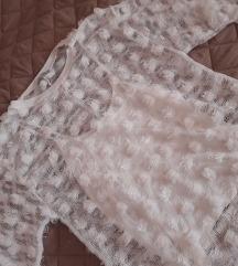 Új Zara krém necc felső top blúz