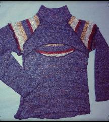 Színes kötött pulóver