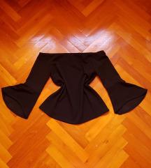H&M újszerű fekete blúz XS