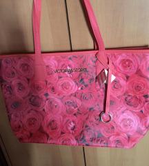 ÚJ Victoria's Secret piros rózsás táska