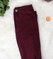 Újszerű Burgundi Skinny nadrág
