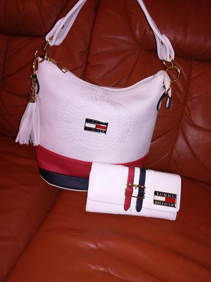 Tommy Hilfiger fehér táska, pénztárca