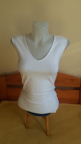 H&M Basic fehér felső, XS-es