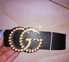Gucci új arany csatos öv gyöngyökkel