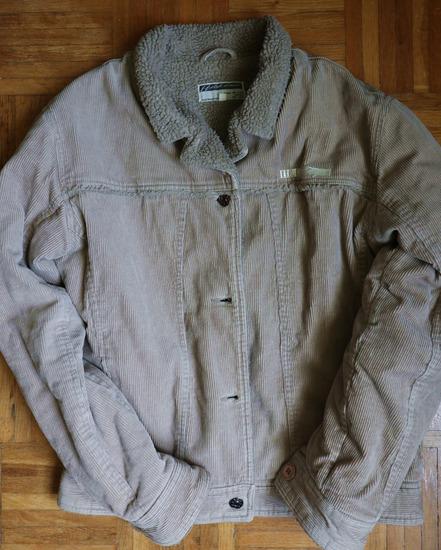 Bézs kordbársony kabát M
