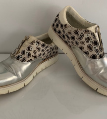 Leather Crown cipő ezüst bőr sneakers cipő 38