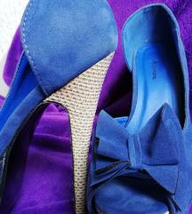 kék platform magassarkú cipő