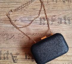 Fekete csillámos kis táska - NINCS PK