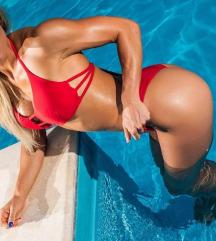 Piros ÚJ Norel luxus bikini M S fürdőruha Sajátkép