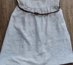Bershka fehér ruha övvel