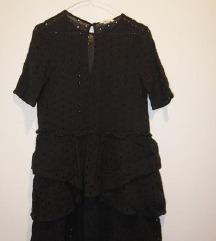 H&M fekete lyukacsos mintás ruha