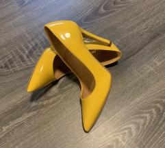 Új olasz sárga lakk cipő