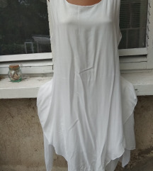 Hófehér könnyű kétrétegű ujjatlan ruha 44-46 ÚJ!