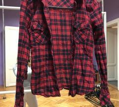 Tally piros fekete kockás ing