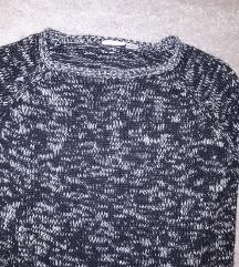 Fekete fehér kötött pulóver