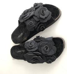 Zara fekete papucs