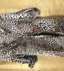 Zara leopárd ocelot mintás ing M
