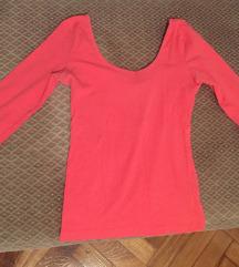 h&m pink háromnegyedes ujjú felső