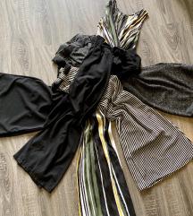 Olasz bőszárú nadrágok és jumpsuit S/M 5db egyben