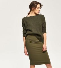 Reserved khaki zöld szoknya - címkés