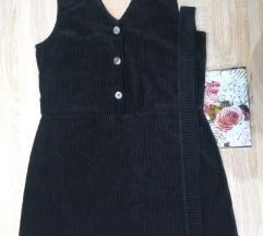 ❗új állapotú❗ F&F bársony kis fekete ruha