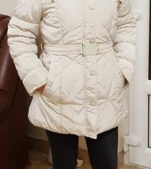 Bézs téli kabát L