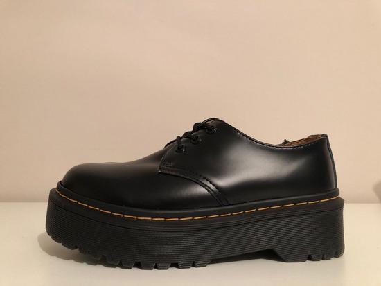 fekete platform oxford cipő