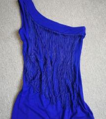 Jane Norman kék rojtos felső 38-as