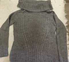 Új szürke kötött pulóver S méretben