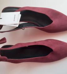 ÚJ (címkés) - bordó velúr elegáns női cipő