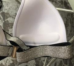 Fehér push up bikini ezüst díszítéssel