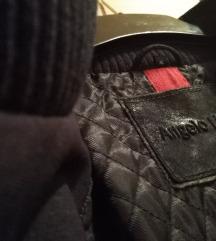 Angelo Litrico sötétkék velúrbőr kabát
