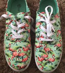 Flamingós cipő