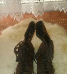 Barna bőr női converse tornacipő