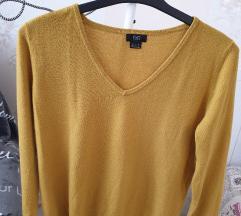 Sárga kötött pulóver