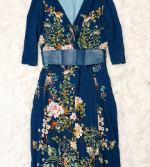 Orsay virágos madaras csinos ruha övvel