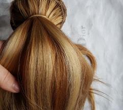 Eredeti europai emberi haj, szőke, hajhosszabítás
