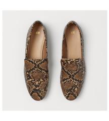 H&M kígyómintás balerina cipő