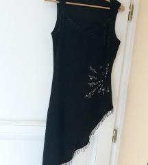 új fekete, flitteres elegáns ruha (38)