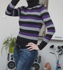 33. Lila-fekete csíkos Terranova pulcsi