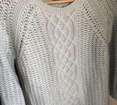 Zara zöld kötött pulóver