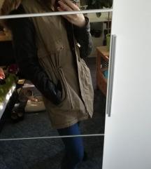 Fekete-Khaki parka kabát