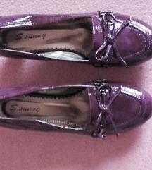 Női bőrcipő lilaakác színű 40
