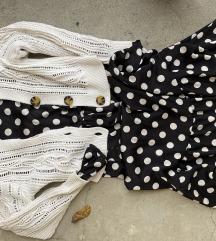 H&M dotted polka dress M/L