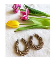 H&M vastag bronzos-arany karika fülbevaló