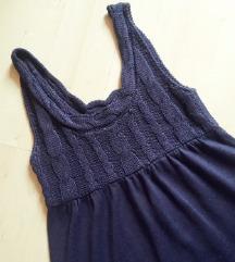 Lila, kötött ruha, S