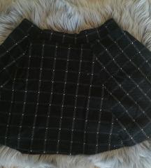 Skót kockás fekete szoknya