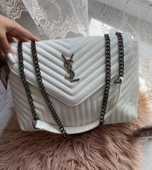 Új nagyméretű YSL fehér női táska crossbody