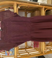 H&M sötétlila elegáns ruha